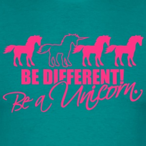 be different be a unicorn pferde reihe muster desi T-Shirts - Männer T-Shirt