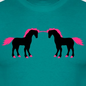 2 friends fighting enemies fight unicorn pink hors T-Shirts - Men's T-Shirt