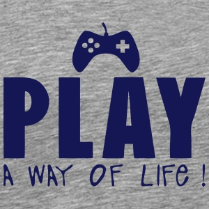 manette jeux play way life citation Camisetas - Camiseta premium hombre
