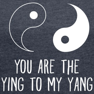 Your Are The Ying To My Yang T-skjorter - T-skjorte med rulleermer for kvinner