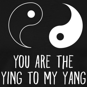 Your Are The Ying To My Yang T-shirts - Herre premium T-shirt