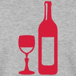 Bottle wine glass red 704 Hoodies & Sweatshirts - Men's Sweatshirt
