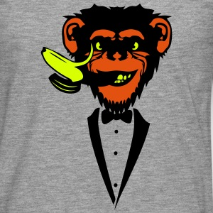 Chimpanzee monkey Banana mouth   suit Long sleeve shirts - Men's Premium Longsleeve Shirt