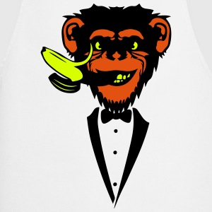 Chimpanzee monkey Banana mouth   suit  Aprons - Cooking Apron