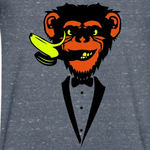 Chimpanzee monkey Banana mouth   suit T-Shirts - Men's V-Neck T-Shirt