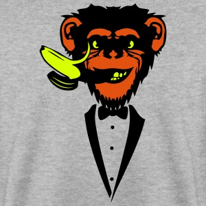 Chimpanzee monkey Banana mouth   suit Hoodies & Sweatshirts - Men's Sweatshirt