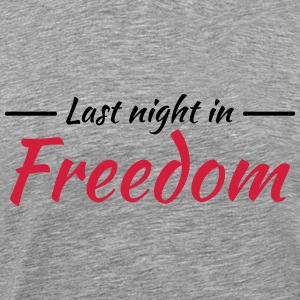 Last night in freedom T-skjorter - Premium T-skjorte for menn