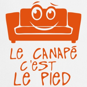 le canape c est le pied citation smiley Tabliers - Tablier de cuisine