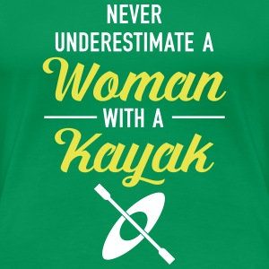 Never Underestimate A Woman With A Kayak T-Shirts - Women's Premium T-Shirt