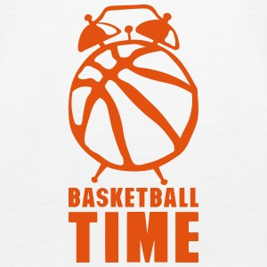 Basketball time alarm clock balloon Tops - Women's Premium Tank Top