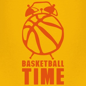 Basketball time alarm clock balloon Shirts - Kids' Premium T-Shirt