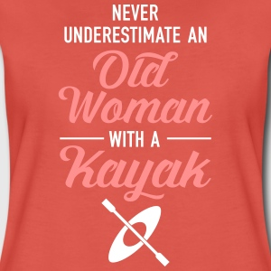 Never Underestimate An Old Woman With A Kayak T-Shirts - Women's Premium T-Shirt