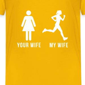 Your wife my wife-runner Shirts - Teenage Premium T-Shirt