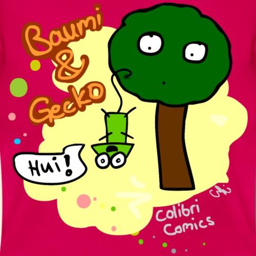 Baumi und Gecko (gelber Hintergrund)