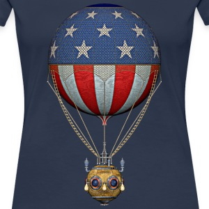 Steampunk US Hot Air Balloon T-Shirts - Women's Premium T-Shirt