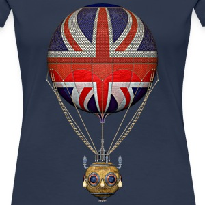 Steampunk Union Jack Hot Air Balloon T-Shirts - Women's Premium T-Shirt