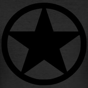 black star - Männer Slim Fit T-Shirt