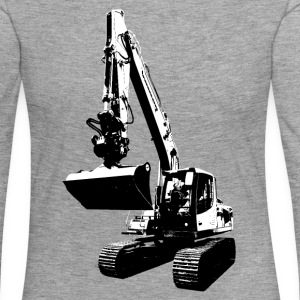 excavator Long Sleeve Shirts - Women's Premium Longsleeve Shirt