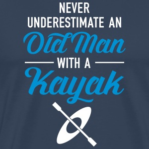 Never Underestimate An Old Man With A Kayak T-shirts - Herre premium T-shirt