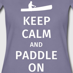 Keep Calm and Paddle on T-shirts - Vrouwen Premium T-shirt