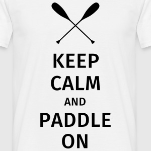 Keep Calm and Paddle on T-shirts - Herre-T-shirt