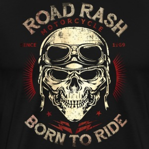 SSD Road Rash Motorcycle Biker born to ride RAHMENLOS Design red old T-Shirts - Männer Premium T-Shirt