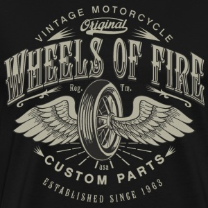 SSD Biker Wheels of Fire Custom Parts Biker - RAHMENLOS Motorcycle Design T-Shirts - Männer Premium T-Shirt
