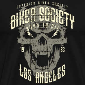 SSD Biker Society Los Angeles 1983 Skull Wings born to die - RAHMENLOS Motorcycle Design T-Shirts - Männer Premium T-Shirt