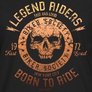 SSD Legend Riders fast and loud Biker RAHMENLOS Design orange Langarmshirts - Männer Premium Langarmshirt