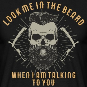 SSD Hipster Skull Look me in the beard - RAHMENLOS Style Design T-Shirts - Männer T-Shirt