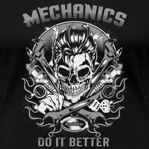 SSD Mechanics do it better - RAHMENLOS Biker Trucker Berufe Design T-Shirts - Frauen Premium T-Shirt