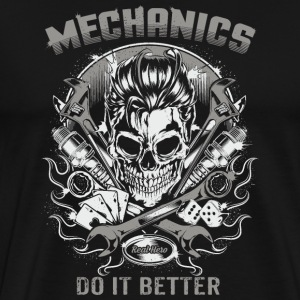 SSD Mechanics do it better - RAHMENLOS Biker Trucker Berufe Design T-Shirts - Männer Premium T-Shirt