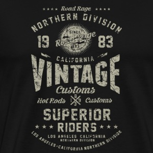 SSD Vintage Nothern Division RAHMENLOS Biker Design Motorcycle retro grey used T-Shirts - Männer Premium T-Shirt