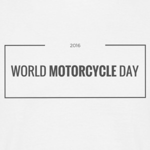World Motorcycle Day 2016 Official T-Shirt ~ White - Men's T-Shirt