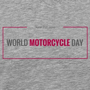 World Motorcycle Day 2016 Official T-Shirt ~ Grey - Men's Premium T-Shirt