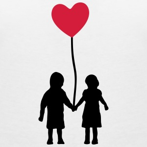 Kids and heart balloon Magliette - Maglietta da donna scollo a V