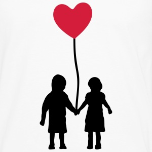 Kids and heart balloon Shirts met lange mouwen - Mannen Premium shirt met lange mouwen