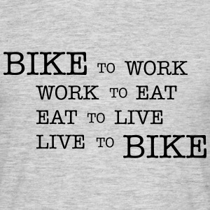 bike to work ... T-shirts - T-shirt herr