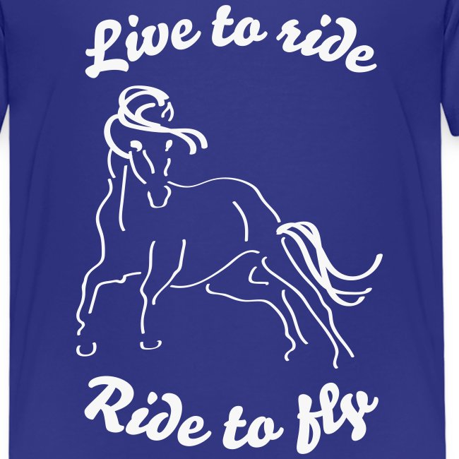 Live to ride, Tshirt für Teenies