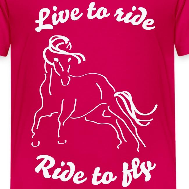 Live to ride, Tshirt für Kinder
