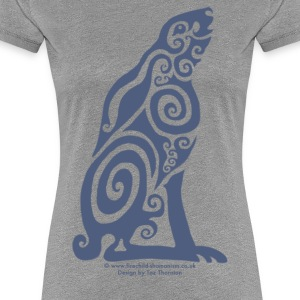 Spirit Animal - Woad Hare - Women's Premium T-Shirt
