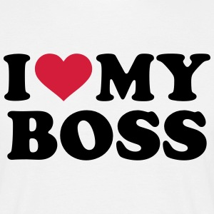 I love my boss T-Shirts - Männer T-Shirt