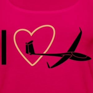 gliding love tshirt Tops - Women's Premium Tank Top