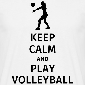 keep calm and play volleyball Magliette - Maglietta da uomo