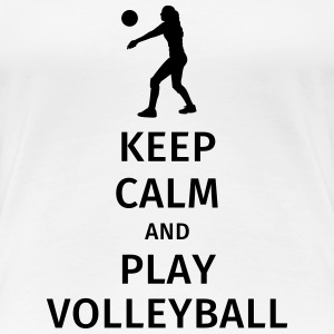 keep calm and play volleyball Camisetas - Camiseta premium mujer