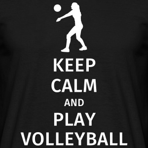 keep calm and play volleyball T-shirts - Mannen T-shirt