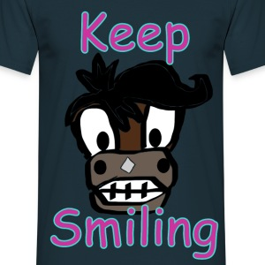 Keep Smiling - Männer T-Shirt