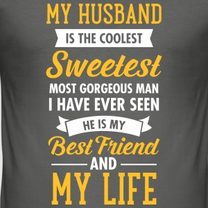 My Husband Is The Sweetest... T-Shirts - Men's Slim Fit T-Shirt