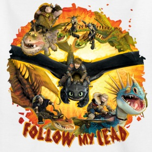 DreamWorks Dragons 'Follow my lead' Teenager T-Shi - Teenager T-Shirt