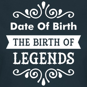 (Date Of Birth) The Birth Of Legends T-shirts - Dame-T-shirt